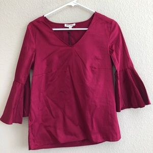 Jane and Delancey Top With Bell Sleeves NWT